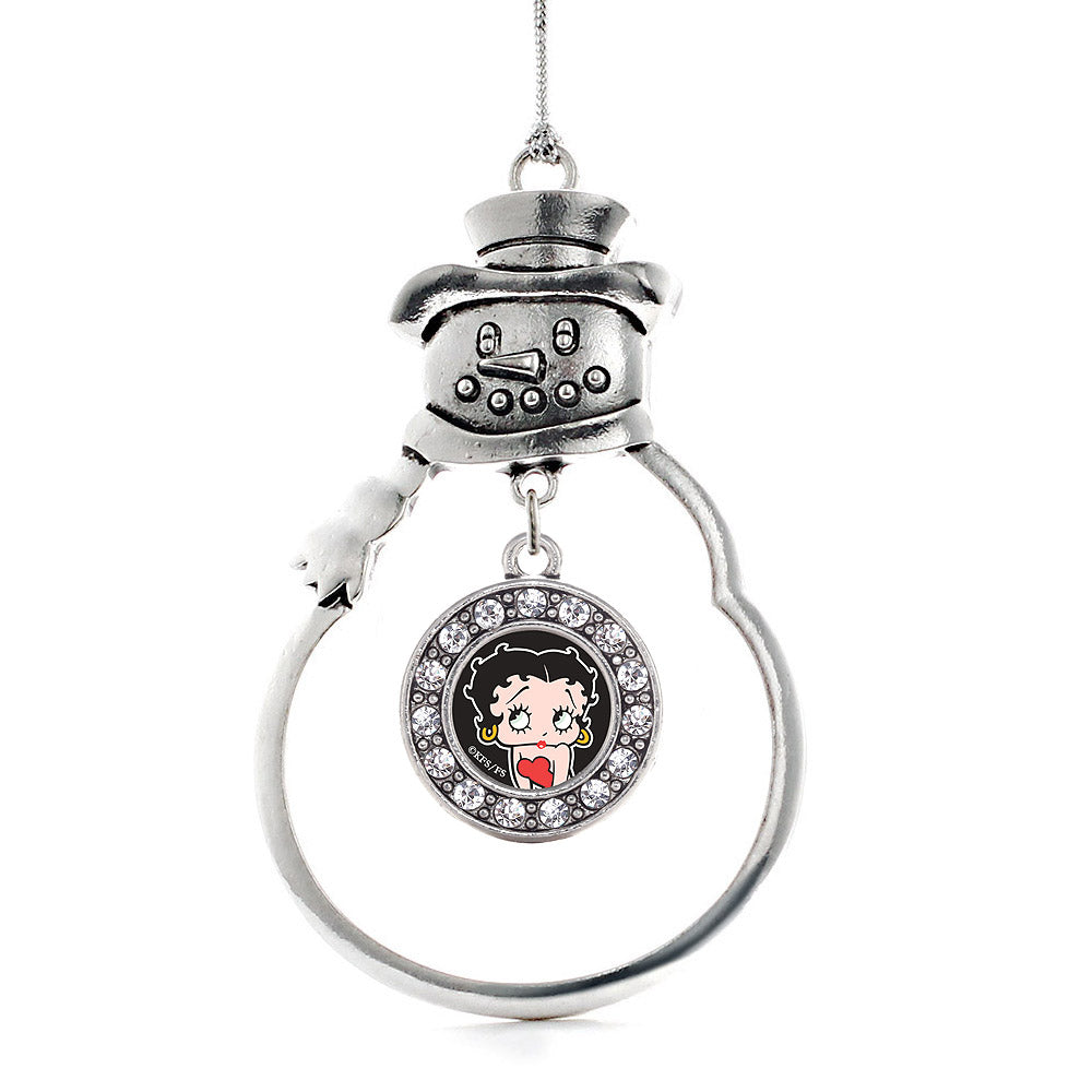 Betty Boop Circle Charm Christmas / Holiday Ornament