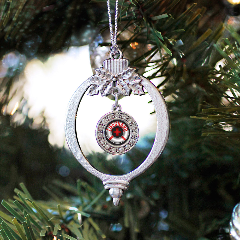 Life Guard Circle Charm Christmas / Holiday Ornament