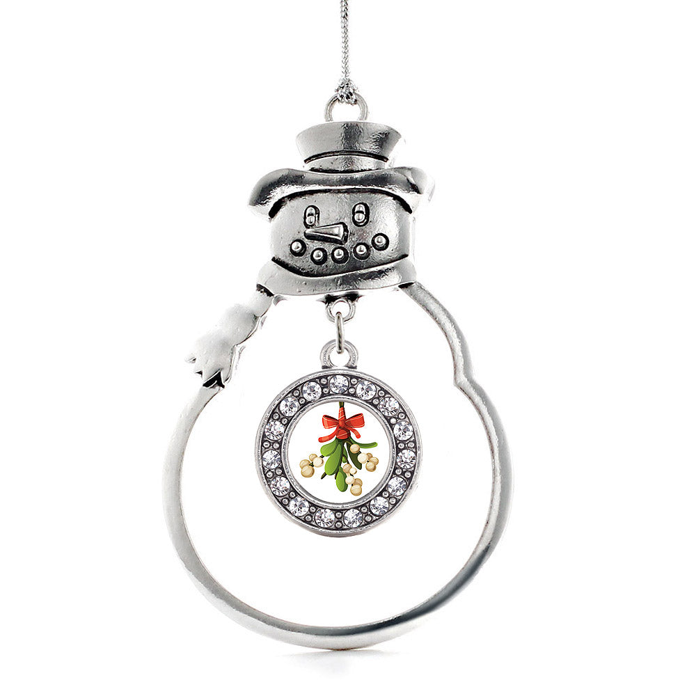 Mistletoe Circle Charm Christmas / Holiday Ornament