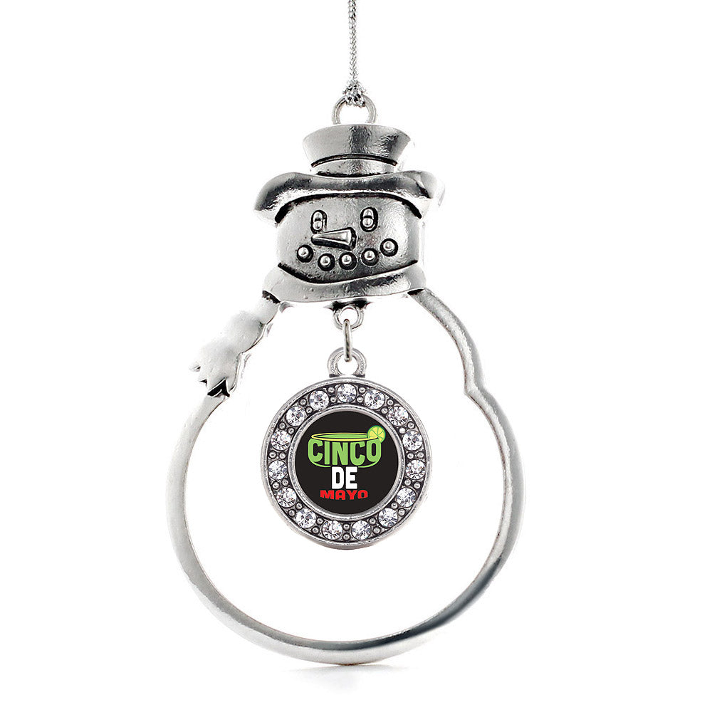 Cinco De Mayo Circle Charm Christmas / Holiday Ornament