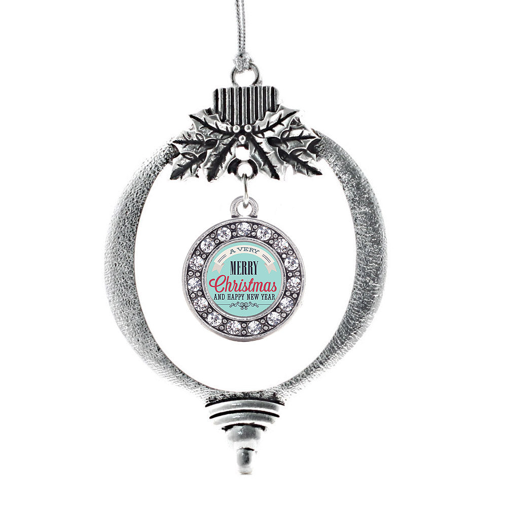 Very Merry Circle Charm Christmas / Holiday Ornament