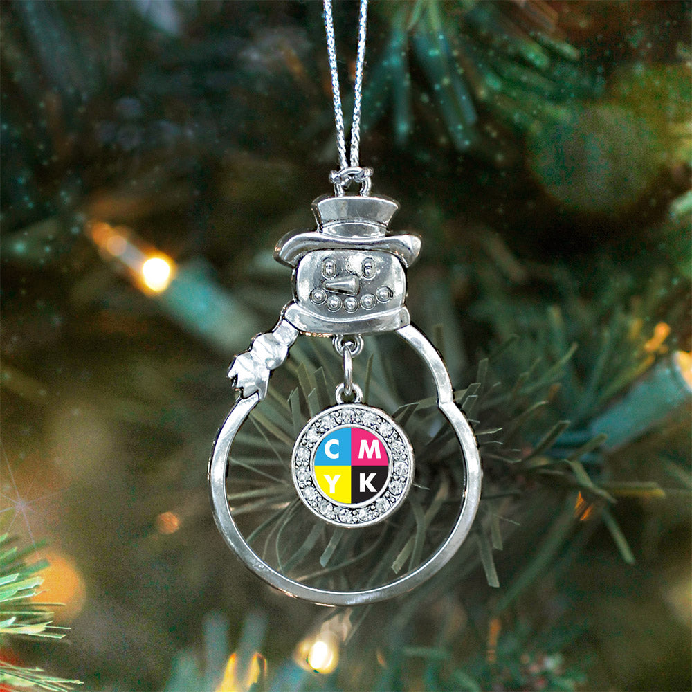CMYK Circle Charm Christmas / Holiday Ornament