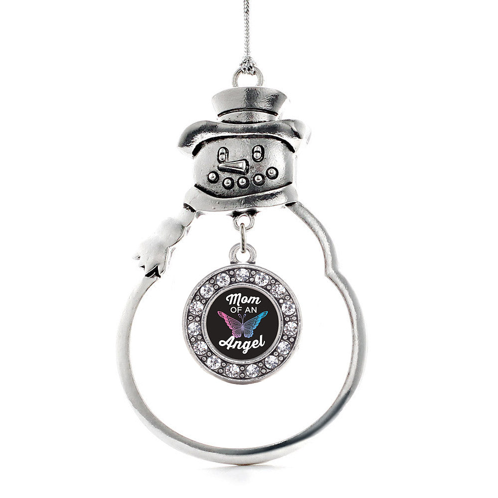 Mom of an Angel Circle Charm Christmas / Holiday Ornament