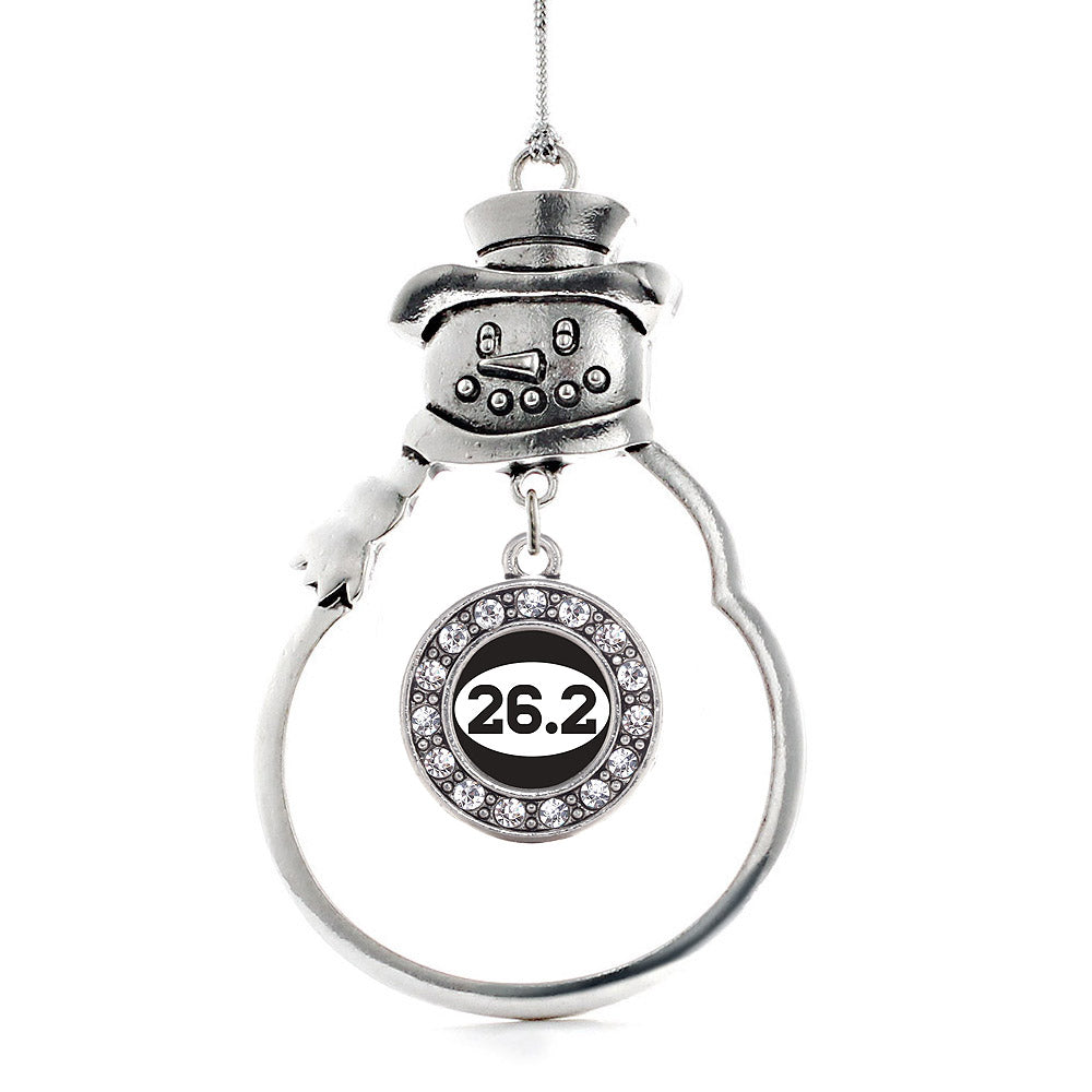 26.2 Runners Circle Charm Christmas / Holiday Ornament