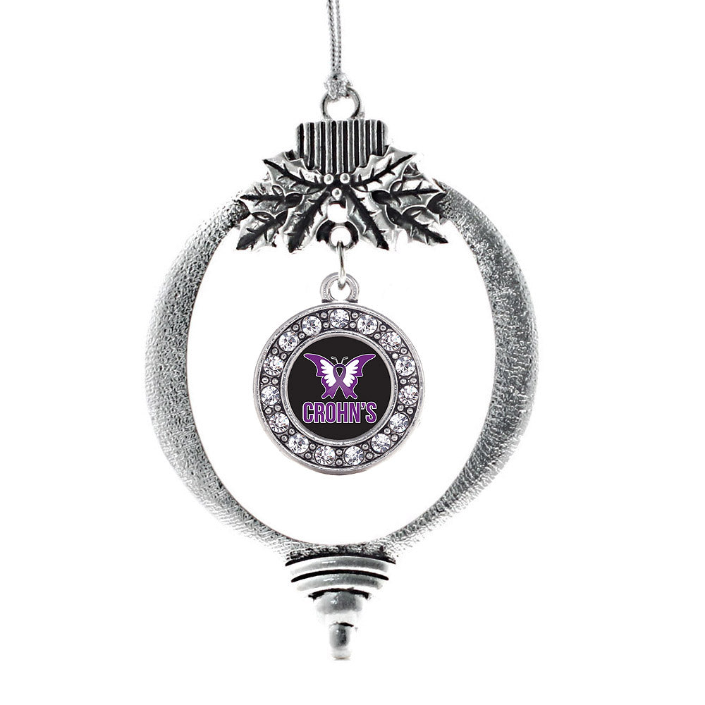 Crohn's Disease Circle Charm Christmas / Holiday Ornament