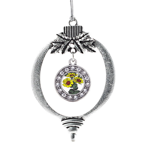 Coreopsis Flower Circle Charm Christmas / Holiday Ornament