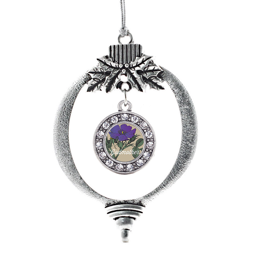 God Mother Violet Circle Charm Christmas / Holiday Ornament