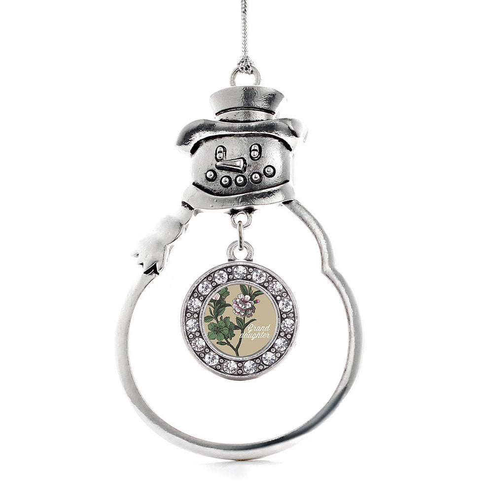 Grand Daughter Apple Blossom Flower Circle Charm Christmas / Holiday Ornament