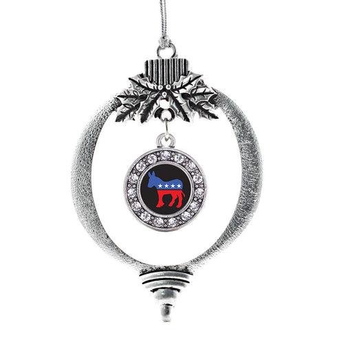 Democrat Circle Charm Christmas / Holiday Ornament