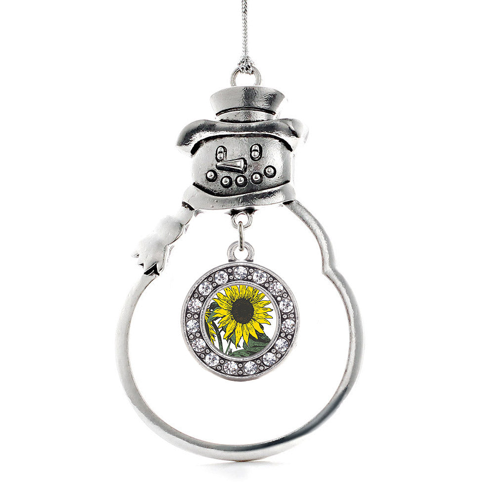 Sunflower Circle Charm Christmas / Holiday Ornament