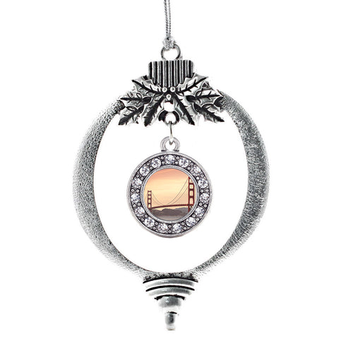 Baker Beach Circle Charm Christmas / Holiday Ornament