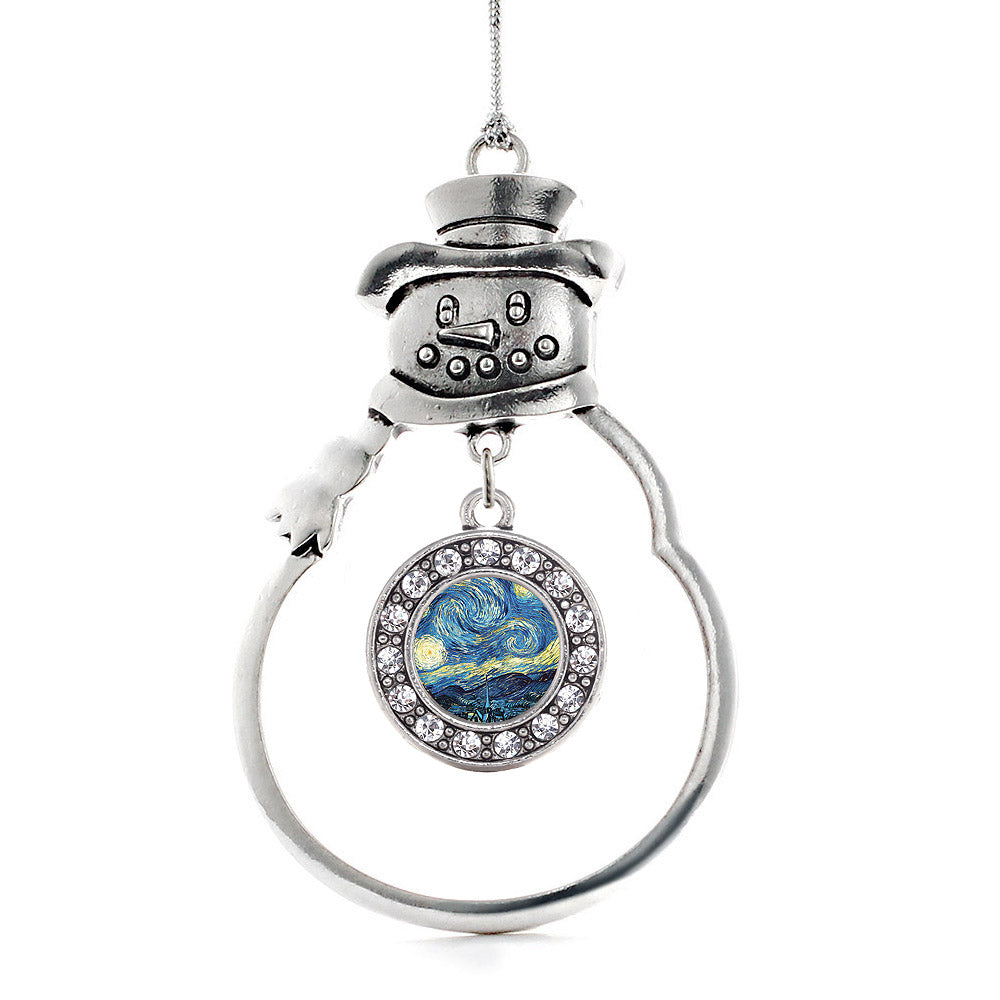Starry Night Circle Charm Christmas / Holiday Ornament