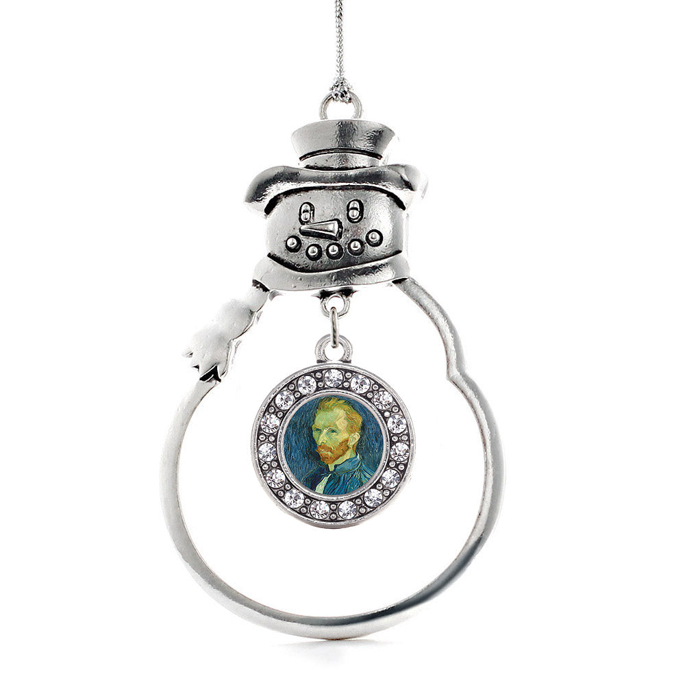 Vincent Van Gogh Circle Charm Christmas / Holiday Ornament