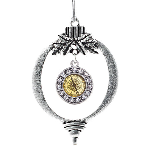 Compass Circle Charm Christmas / Holiday Ornament
