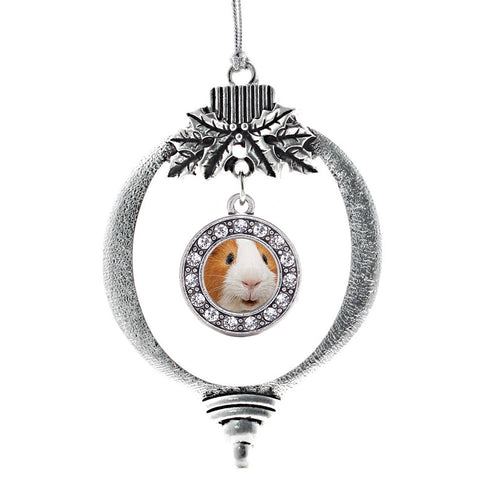I Love Guinea Pigs Circle Charm Christmas / Holiday Ornament