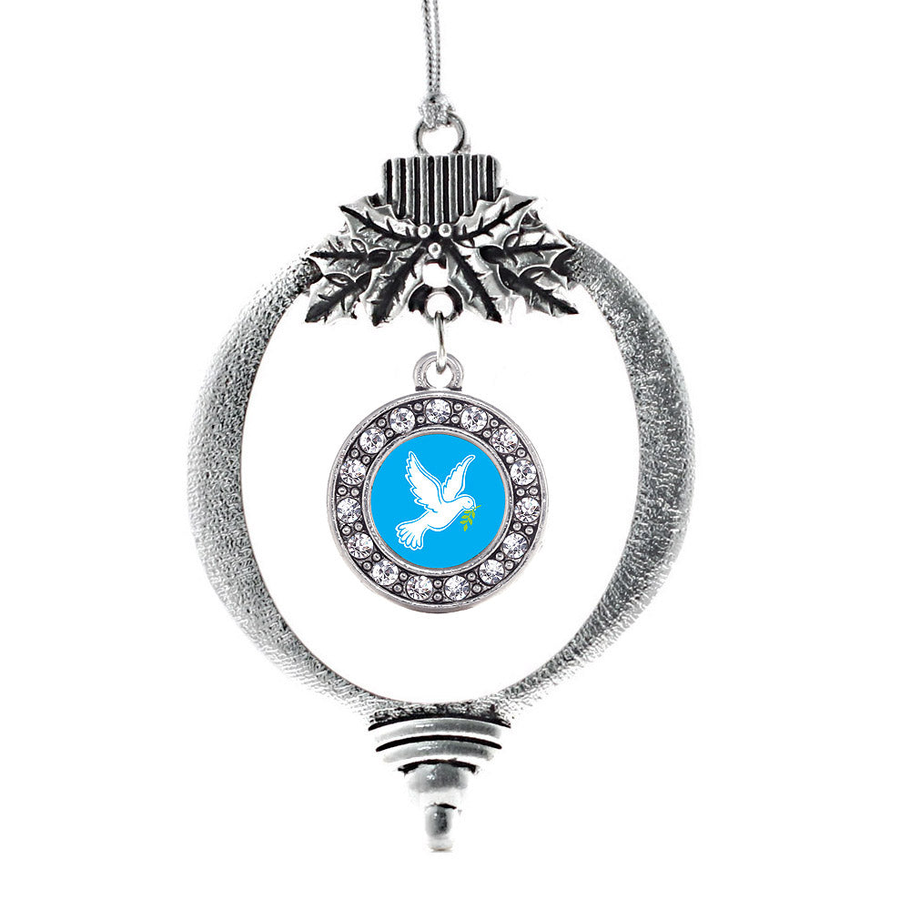 Dove Circle Charm Christmas / Holiday Ornament
