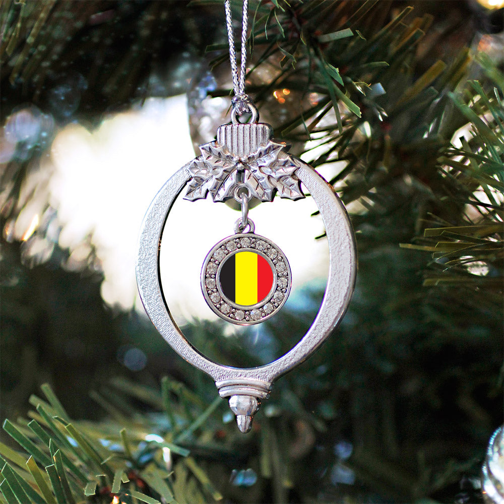 Belgium Flag Circle Charm Christmas / Holiday Ornament
