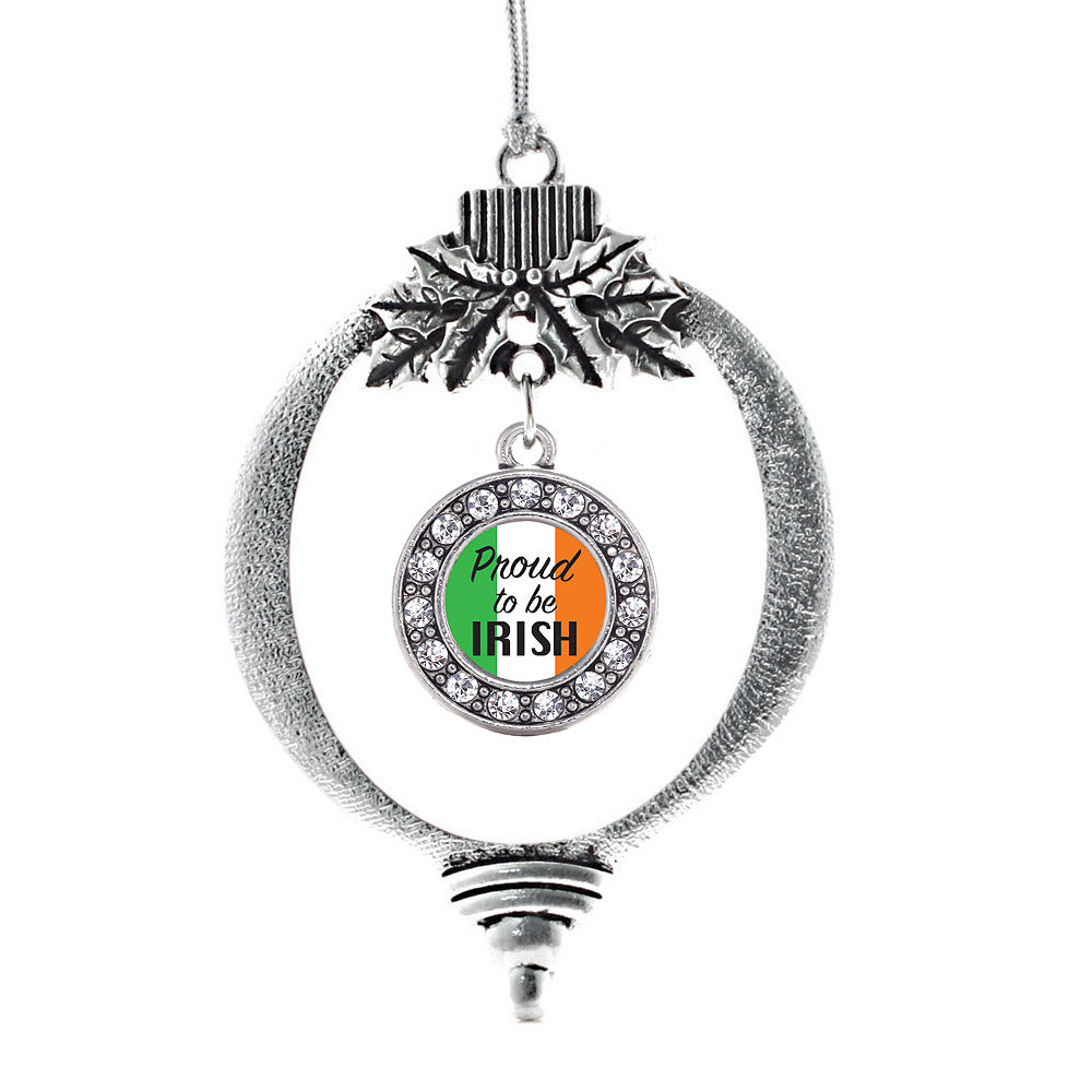 Proud to be Irish Circle Charm Christmas / Holiday Ornament