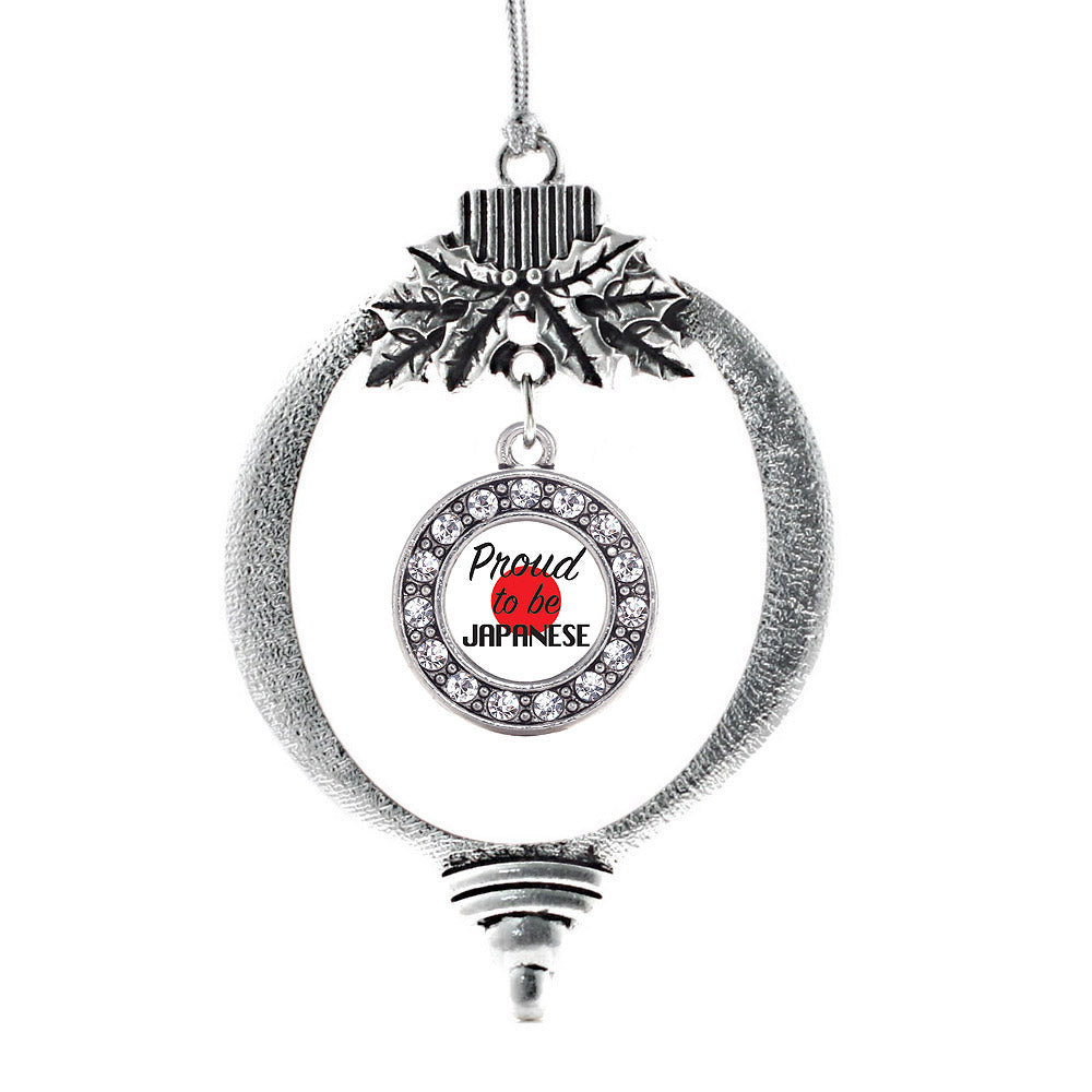 Proud to be Japanese Circle Charm Christmas / Holiday Ornament