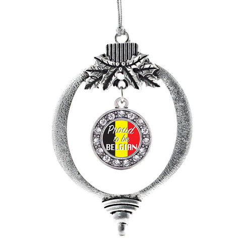 Proud to be Belgian Circle Charm Christmas / Holiday Ornament