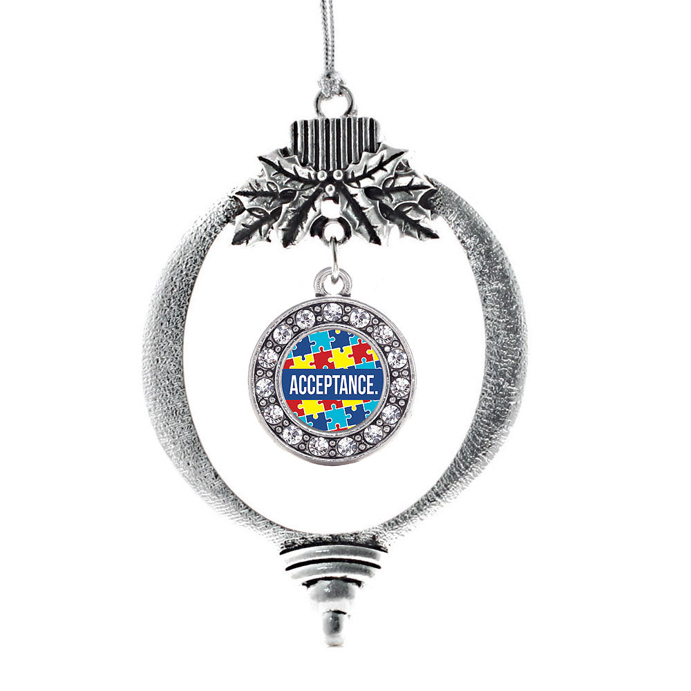 Autism Acceptance Circle Charm Christmas / Holiday Ornament