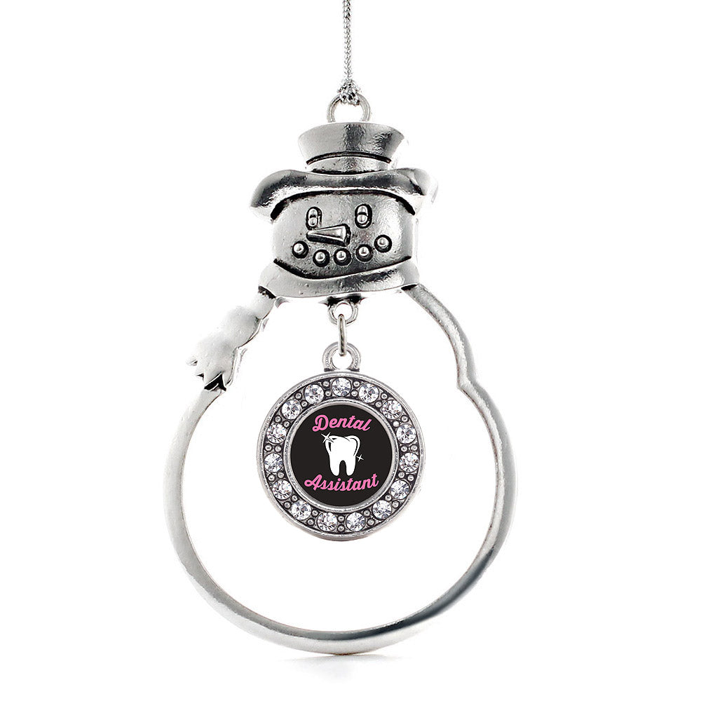 Dental Assistant Circle Charm Christmas / Holiday Ornament