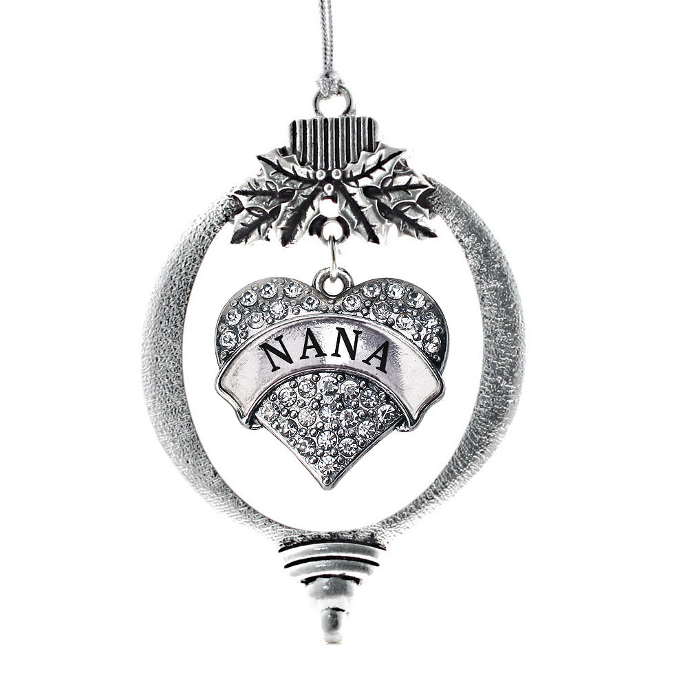 Nana Pave Heart Charm Christmas / Holiday Ornament