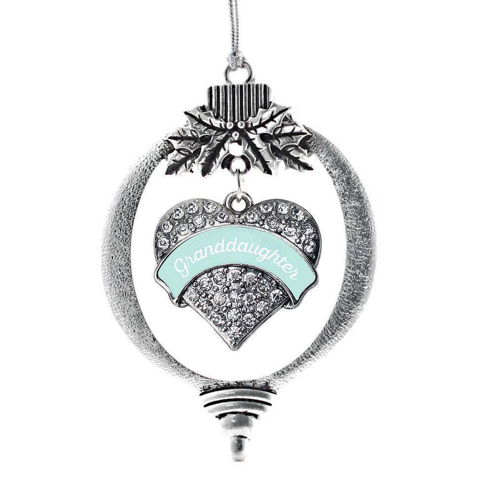 Mint Granddaughter Pave Heart Charm Christmas / Holiday Ornament
