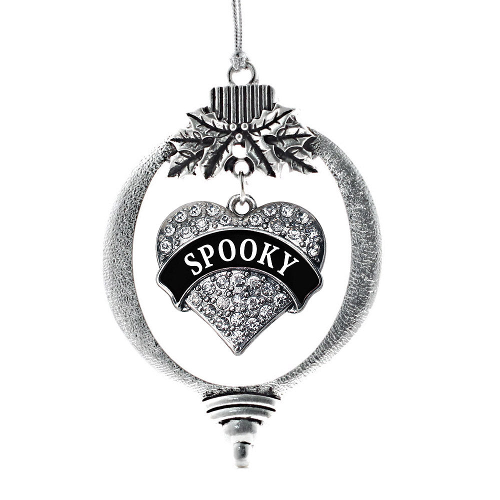 Spooky Pave Heart Charm Christmas / Holiday Ornament