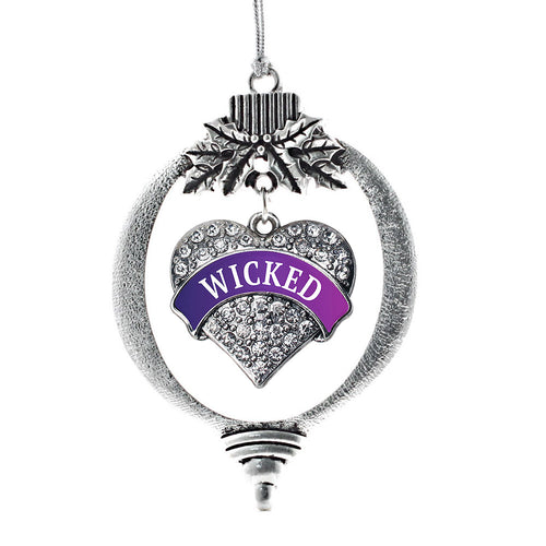 Wicked Pave Heart Charm Christmas / Holiday Ornament