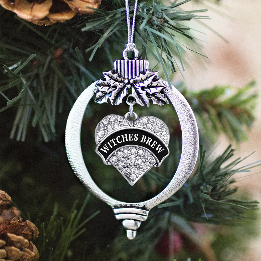 Witches Brew Pave Heart Charm Christmas / Holiday Ornament