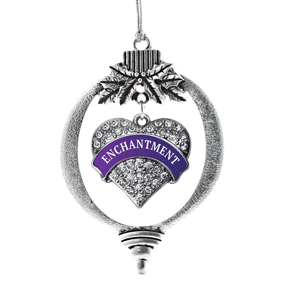 Enchantment Pave Heart Charm Christmas / Holiday Ornament