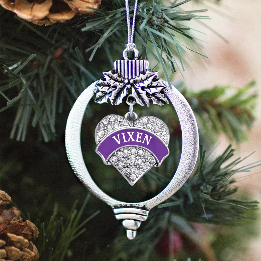 Vixen Pave Heart Charm Christmas / Holiday Ornament