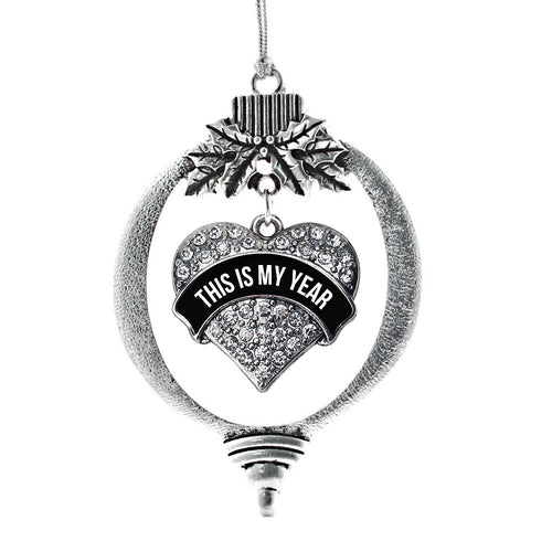 This is My Year Pave Heart Charm Christmas / Holiday Ornament