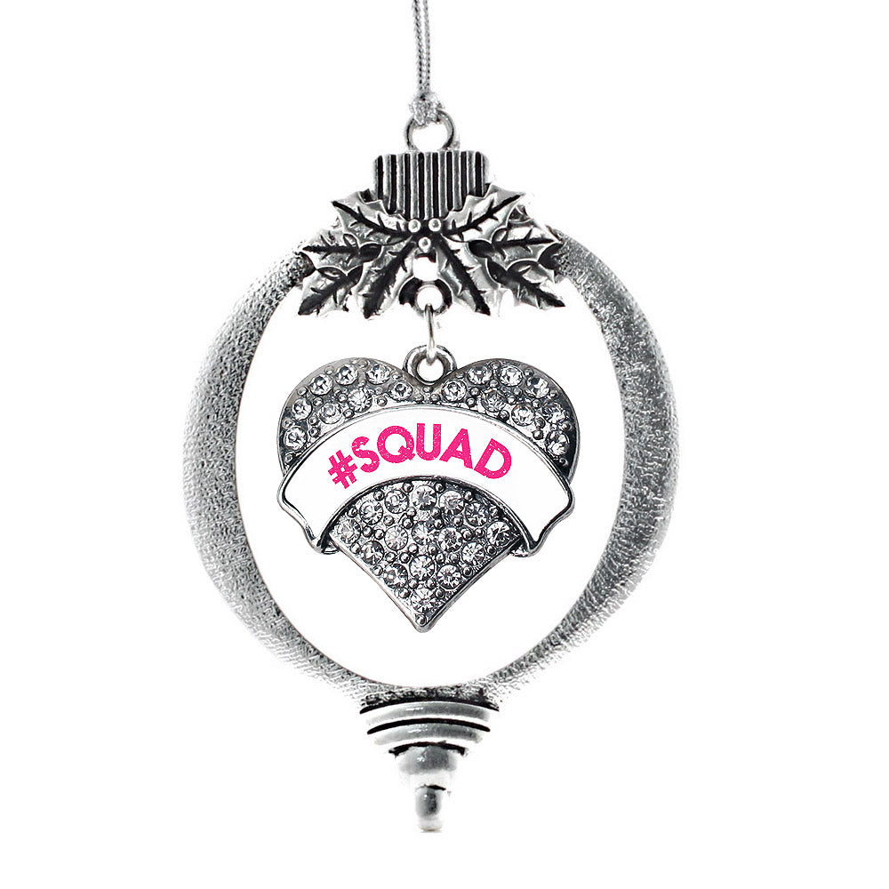 #SQUAD White Candy Pave Heart Charm Christmas / Holiday Ornament