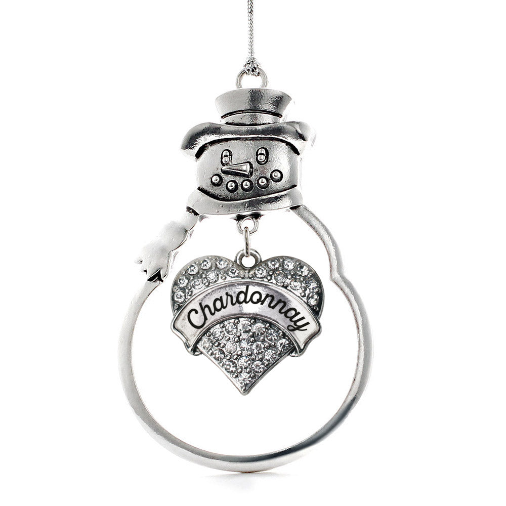 Chardonnay Pave Heart Charm Christmas / Holiday Ornament