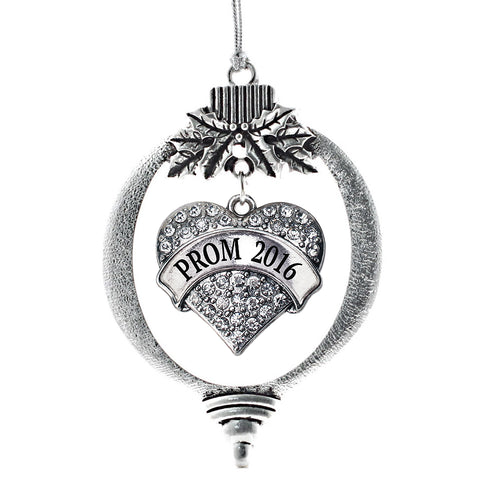 Prom 2016 Pave Heart Charm Christmas / Holiday Ornament