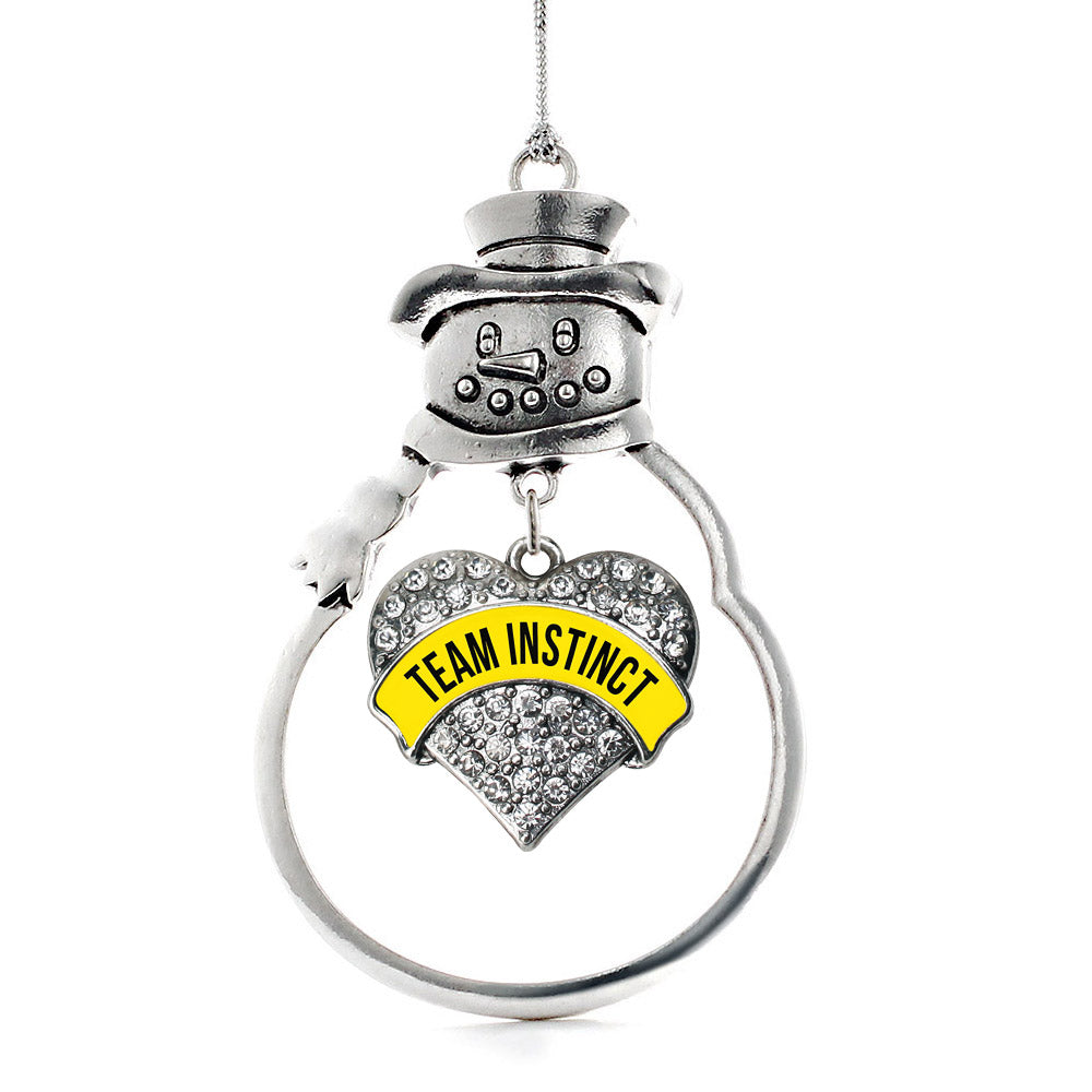 Team Instinct Pave Heart Charm Christmas / Holiday Ornament
