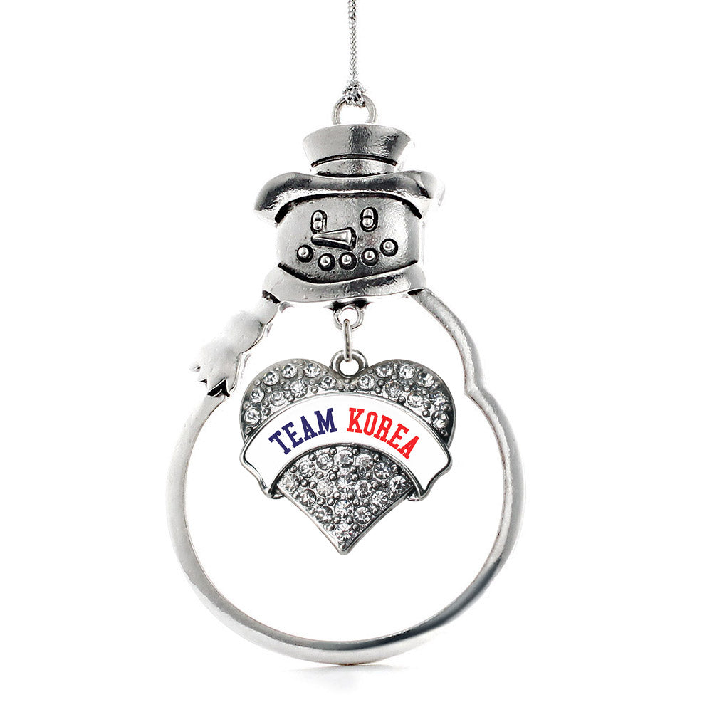Team Korea Pave Heart Charm Christmas / Holiday Ornament