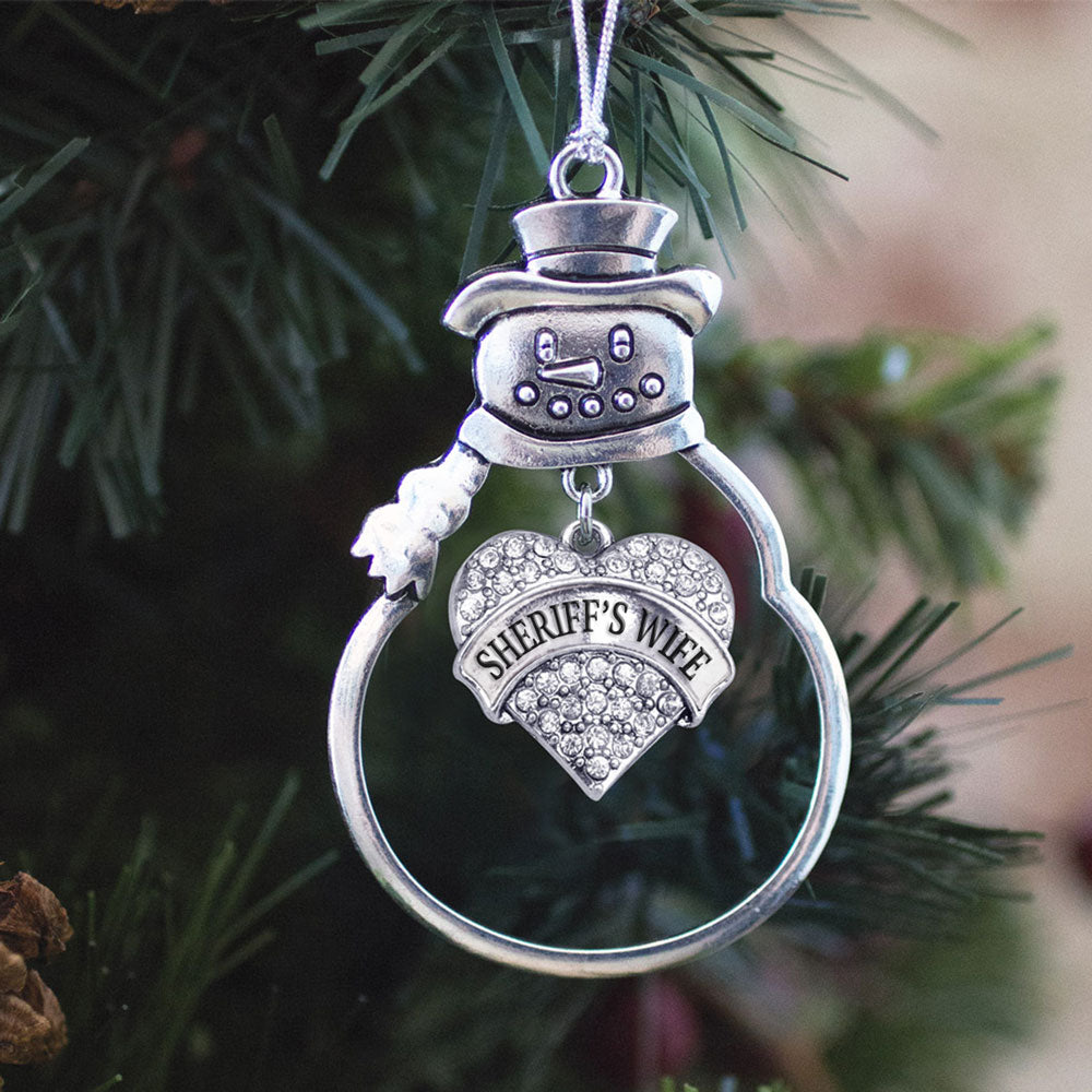 Sheriff's Wife Pave Heart Charm Christmas / Holiday Ornament