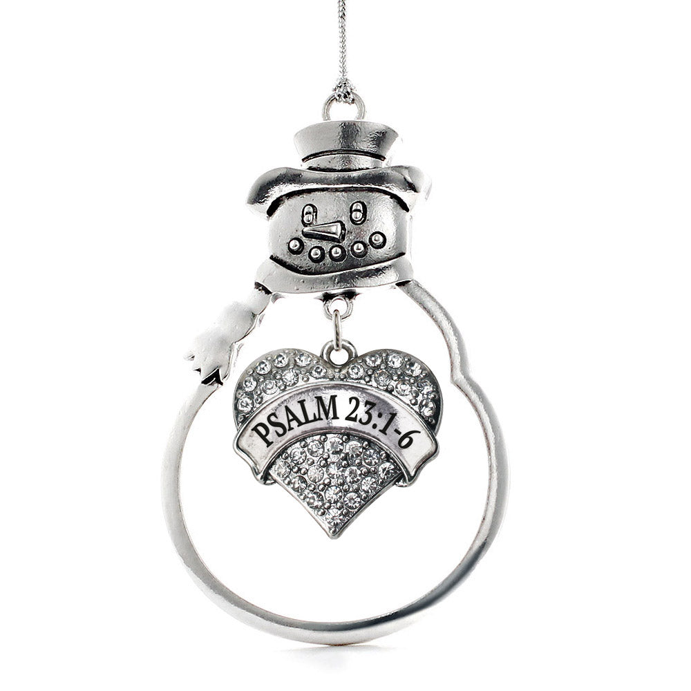 Psalm 23:1-6 Pave Heart Charm Christmas / Holiday Ornament