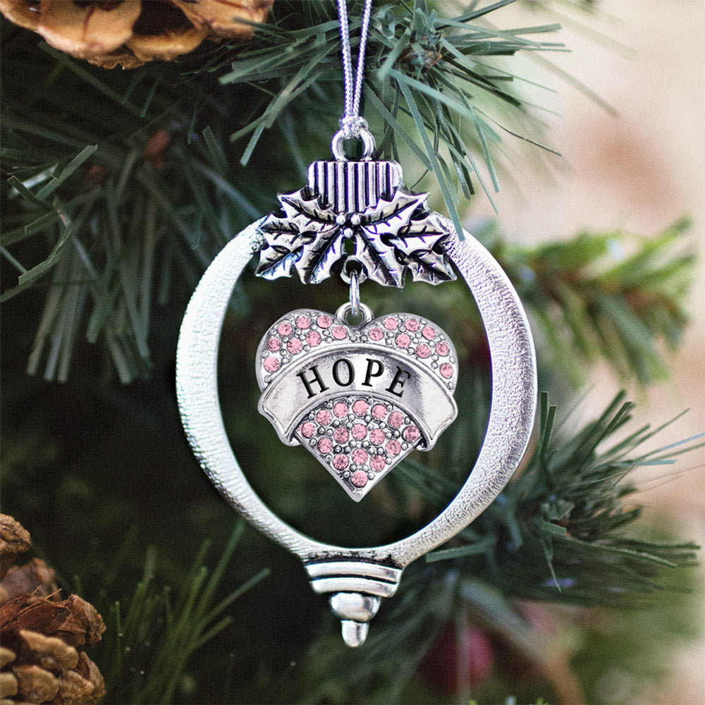 Hope Pave Heart Charm Christmas / Holiday Ornament