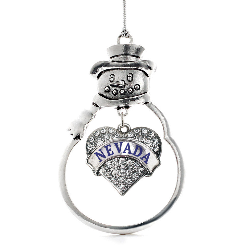 Nevada Pave Heart Charm Christmas / Holiday Ornament