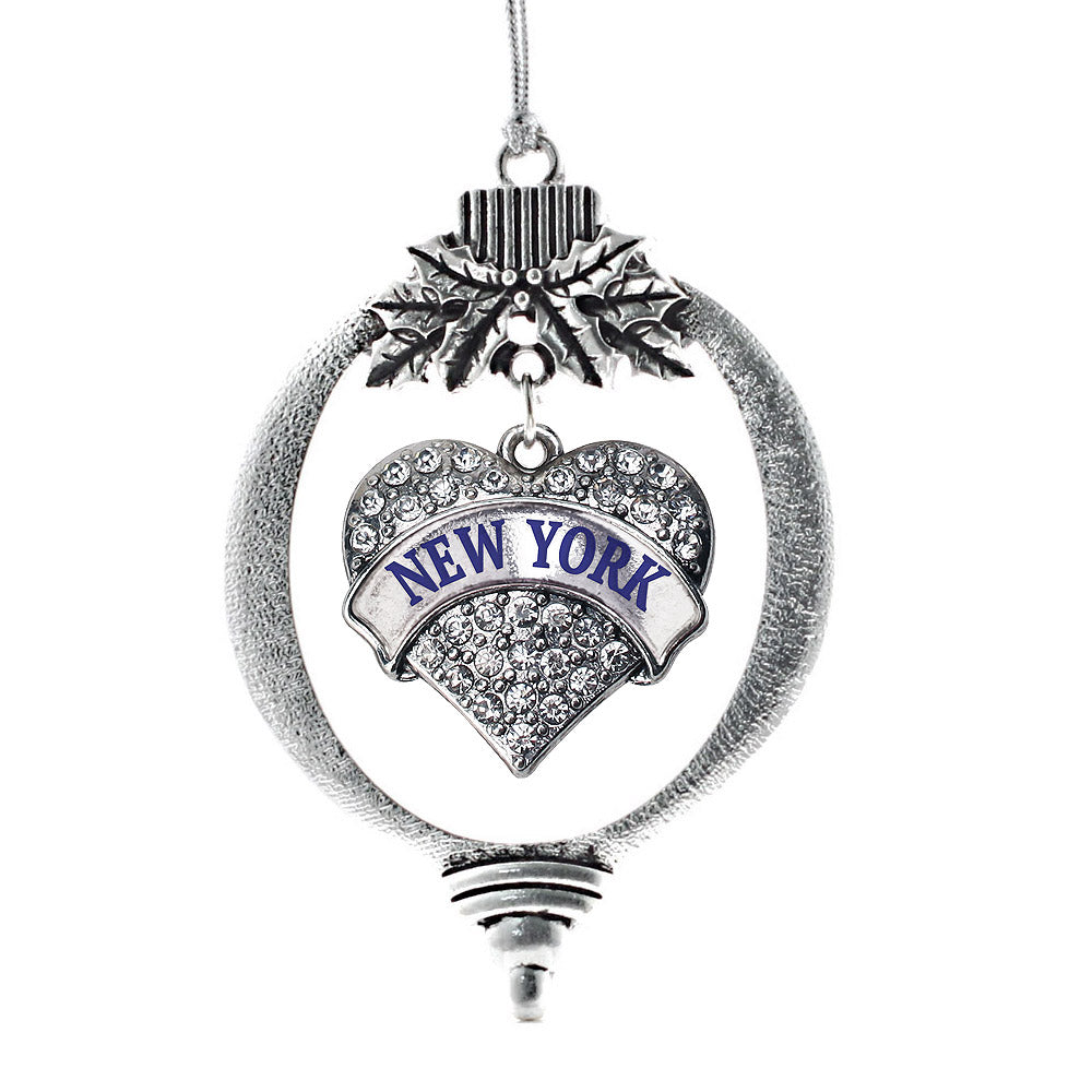 New York Pave Heart Charm Christmas / Holiday Ornament