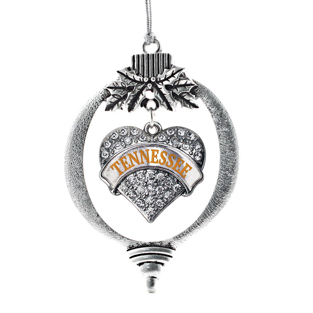Tennessee Pave Heart Charm Christmas / Holiday Ornament