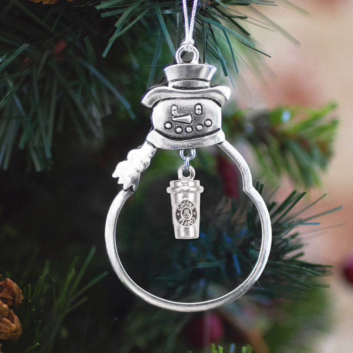 Coffee Travel Mug Charm Christmas / Holiday Ornament