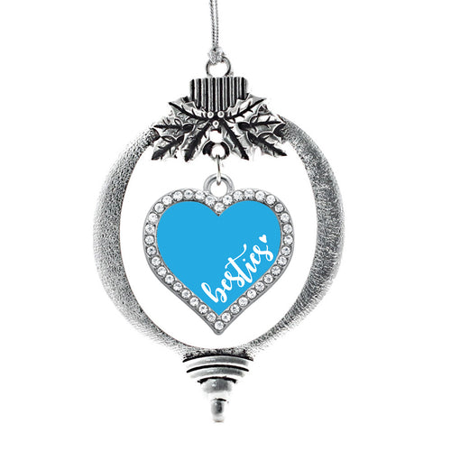 Blue Besties Open Heart Charm Christmas / Holiday Ornament