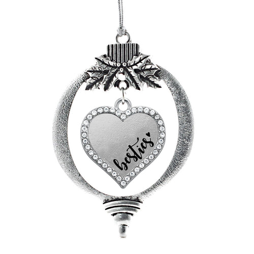 Besties Open Heart Charm Christmas / Holiday Ornament