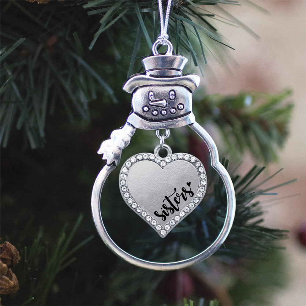Sisters Open Heart Charm Christmas / Holiday Ornament