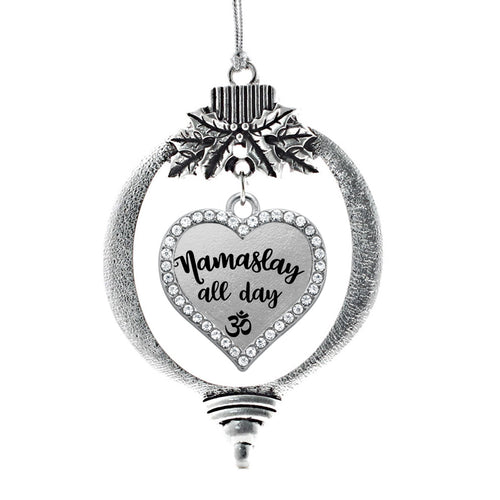 Namaslay All Day Open Heart Charm Christmas / Holiday Ornament